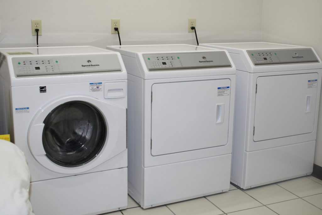 New commercial washer and two dryers
